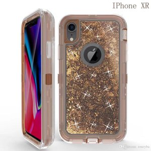 Good Bling crystal Liquid glitter Designer for iphone 11 pro x xs max xr 7 6 8 plus robot shockproof back cover for samsung s8 s9 s10 plus