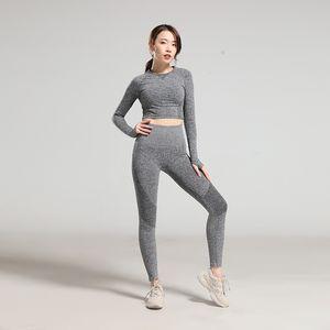 Fanceey Gym Одежда для женщин Йога наборы Женщины Gym Одежда Бесшовная Установить костюм для йоги тренировки Set Леггинсы Топы CT10