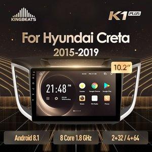 KingBeats Android 8.1 Unità di testa 4G Dash Car Radio Multimedia Video giocatore di navigazione GPS per Hyundai IX25 Creta 2015 2019