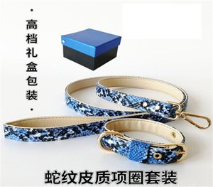 Trendy Leather Dog Collar & Leashes Fashion Cute Puppy Small Dog & Cat Supplies Personality Pet Collars