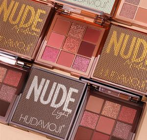 Les produits nationaux HUDA neuf couleur de la peau de la plaque d'ombre à paupières 9 Couleur des yeux Ombre paillettes mates lumière perle maquillage couleur