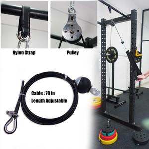 Heimtraining Fitness Pulley Cable System DIY Ladepins Lifting Trizepsseil Maschine justierbares Länge Gymnastik-Sport-Zubehör
