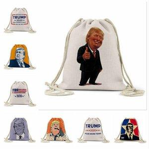 Trump plage Sacs à dos Trump extérieur sac de rangement d'impression numérique campagne Campagne Pouch Drawstring Trump Shopping Bags 16 Styles ACGY13