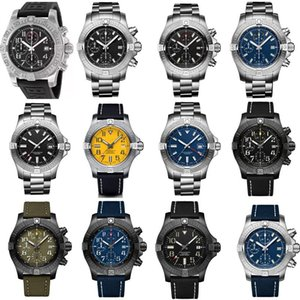 Breitling 디자이너 시계 망 자동 시계 기계식 석영 운동 전체 작업 사치를보고 1884 새로운 패션 슈퍼 미군 II는 WHK7 번호 시계