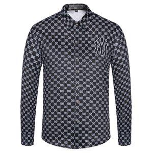 Мужские Оксфорд хлопка рубашки поло топ дизайнер и досуг Бизнес рубашки с длинным рукавом Brand New Mens рубашки платья плюс размер-2