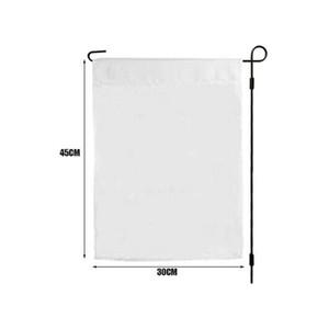 Soutien Amazon Livraison, Espace blanc Sublimation Drapeaux Jardin, 30x45cm 100D Polyester Tissu, une couche, Impression numérique Polyester, Livraison gratuite