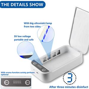 DH top box UVC maschere telefono sterilizzazione monili Cellulari Cleaner Personal sterilizzatore Disinfezione Gabinetto con Aroma Sterilizzazione Per Mask