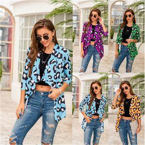 Cardigan lapela pescoço casacos de moda solto Primavera manga comprida Designer Coats New Color Contrast Roupa Mulheres