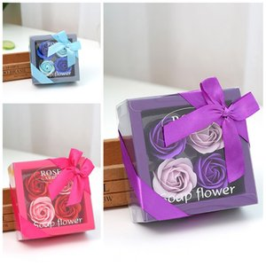 Practical Soap Flower Three Colors Simulation Petals For Valentines Day Gifts Soaps Rose Flowers Head Top Quality 5 5ms B