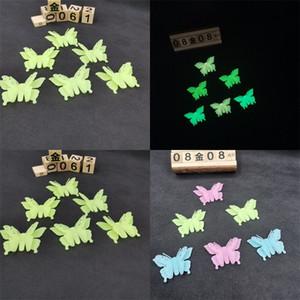 8 * 5cm 3D Schmetterlings-Form-leuchtende Aufkleber Reiche Farben-Aufkleber Schöne Good Looking-Wand-Ausgangs Schlafzimmer-Dekor Kinder Like 1 2yy E2