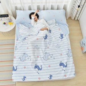 Seyahat Çarşaf Sleeping bagultra ışık torba yetişkin pamuk taşınabilir yatak çarşafı torba zarf kapalı otel kirli uyku