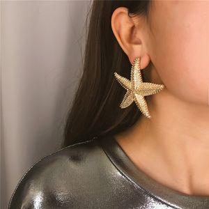 10PCS / 로트 유럽 간단한 무딘 폴란드어 스터드 귀걸이 입체 민족 스타일 매력 귀걸이 여성 패션 불가사리 귀 보석