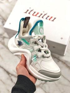 Louis Vuitton LV slippers chaussures de luxe gießen femmes Archlight gießen hommes, Körbe en cuir véritable, chaussures de sport, chaussures de course, couleu