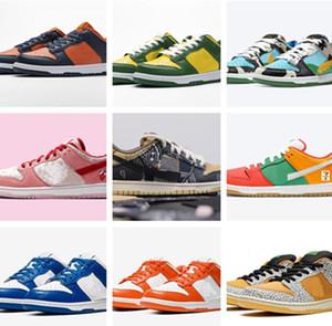 Con caja caliente SB Dunks Chunky Dunky Ben Leche Jerry's Helado Zapatos casuales Día de San Valentín Melon Gimnasio Brasil Med Soft Designer Shoes