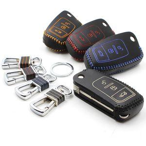 clásica para Ford Focus 2012 2013 Fiesta 2009-2013 s-max 2007/2008 de piel cáscara de la cubierta llave del coche titular de la cartera key2a