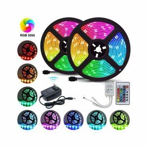 10M RGB Waterproof 300 LED Strip Light SMD 44 Key Remote 12V DC Power Kit 5050