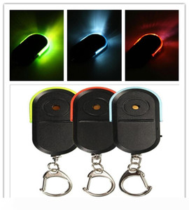 Wireless LED Alarm Key Finder Locator Keychain Whistle Sound LED Light Color best selling for you