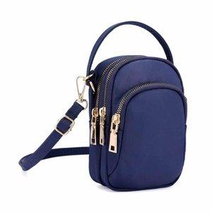 Spalla delle donne Messenger Bag Lightweight sacchetto di nylon borse Crossbody per le donne del telefono mobile Headset dames tassen # 20