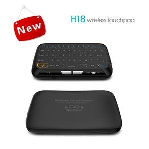 PC 안드로이드 TV 박스에 대한 H18 미니 무선 키보드 저렴한 2.4G 전체 화면 플라이 에어 마우스 터치 패드 콤보 원격 제어