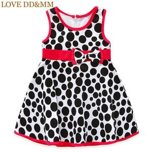 LOVE DD&MM Girls Dresses 2020 Summer New Children's Wear Girls Sweet Polka Dot Bow Sleeveless Vest Dress