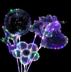 LED Bobo Luminous balão 3M transparente colorido Presentes Luzes Balls Chirstmas decoração de festa do casamento da árvore do unicórnio Formato de Estrela venda C121902