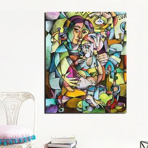 HD Prints Home Decor Pablo Picasso Canvas Poster Cubismo pittura Wall Art colorato modulare Immagine Struttura Per Soggiorno