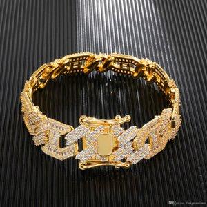 15mm Width Cuba Link Chain Hip Hop Bracelet Men's High Grade Accessory Bling Bling Hip Hop Jewelry