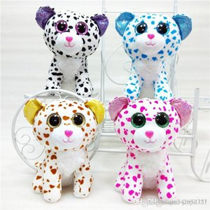 New 20cm plush toy cute crystal eye big flower cat doll PP cotton spotted cat kids Stuffed Animals kids Christmas birthday present
