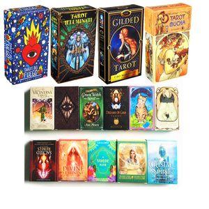 Tarot-Karten Oracle Guidance Divination Fate Tarot Deck Brettspiele Deutsche Version Steampunk Mucha Tarot Fuego