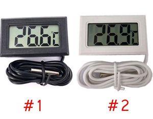 미니 LCD 디지털 온도계 정밀 디지털 온도 측정기 온도 악기 센서 방수 디자인 분석기 온도 미터 DHB494