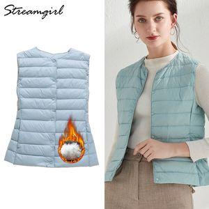 's Clothing Duck Down Vest Outerwear Ultra Light Jacket Women 2019 Sleeveless Ultra Thin Down Jacket Female Women's Warm Vest Winter