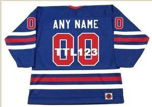 """Men # 00 Winnipeg Jets 1970 WHA k Personalizado """"Qualquer Número Nome (s)"""" Hockey Jersey ou personalizado qualquer nome ou número retro Jersey"""