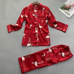 Summer Women Shirt Trousers Pajamas Sets Sleepwear Lady Home Wear Two piec Nightgown Suit Robe Bath Gown Sleepshirts M-XL Y200708