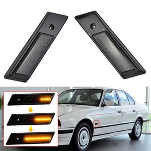 Marcador de vuelta del lado de la señal para la luz 3 de BMW 5 Serie 7 E32 Indicador intermitente dinámico E34 E36 LED 1990-1996 secuencial de la lámpara