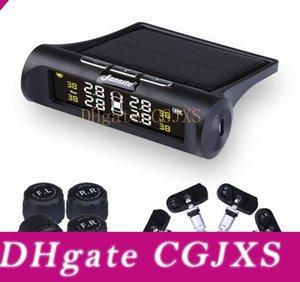 4 센서와 HD 디지털 LCD 디스플레이 자동 경보 시스템 무선 충전 시스템 태양 광 모니터링 자동차 TPMS 타이어 압력