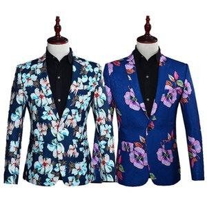 الأزهار سليم عادية الحلل 2020 وصول جديد الموضة ذكر البدلة سترة الرجال جناح حفلة موسيقية Blezer ذكر لل