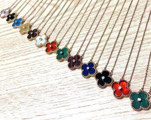 s925 collar de plata esterlina femenina de Corea del trébol neta marea roja minimalista temperamento color salvaje cadena de huesecillos 18k de oro rosa