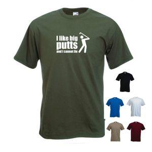 2020 Смешной Hot Sale 'I Like Big Putts И я не могу Lie' Мода Гольфы гольфист Гольф Present Tshirt Ти Ти Shirt