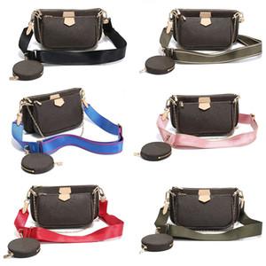Lieblings Multi Pochette Designer Luxus-Handtasche echtes Leder L Blumen-Marke Schulter Crossbody-Tasche Dame-Geldbeutel 3 PC-Abendtasche