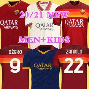 Tailandia DZEKO PEROTTI PASTORE ZANIOLO Jersey Rome 2019 TOTTI Jersey 20.21 Camisa do kit de futebol DE ROSSI 2020 Como Maillot de foot Roma