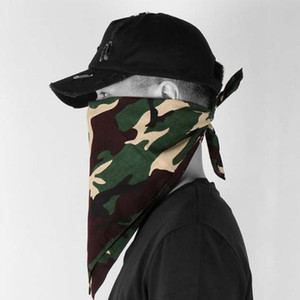 New Arrival Soft Cotton Camouflage Head Bandanas New Style Camouflage Multpurposei Square Towel For Men And Women M011C