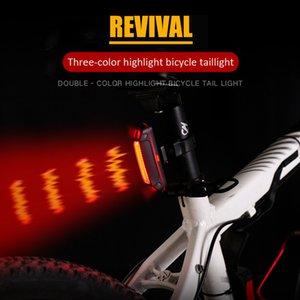 Fuxing велосипедов света Водонепроницаемая USB аккумуляторная Tail Light езда верхом Lamp Горный велосипед Велоспорт безопасности Предупреждение