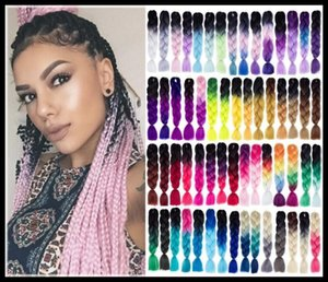 EPACK Braiding Hair 82 inches 100g pack synthetic Kanekalon Hair Crochet Braids single color Premium Ultra jumbo Braid hair