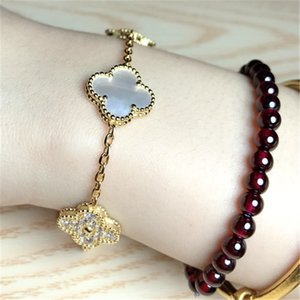 S925 sterling silver bracelet Ms. Clover classic Korean wild clover jewelry ins Little Red Book