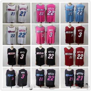 2020 Nova Dwyane Wade 3 Mens Basketball Jerseys Jimmy 22 Butler GoranMiami Herro HassanCalor Heatmen 21 Top Online