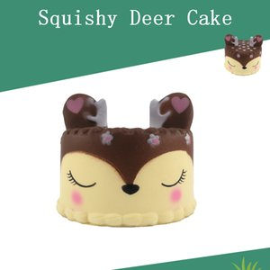 New Style Slow Rising Kawaii Deer Cake Squishy Jumbo Cream Scented Squeeze Kid Toy Phone Charm Gift For Anti Stress
