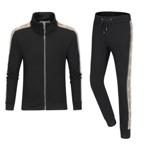 New 2020 Men luxury full zip designer tracksuit man medusa sport suit Men jogger set fas