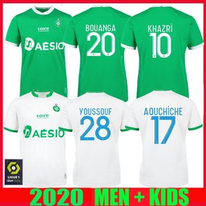 20 21 Como Santos-Étienne Fútbol maillot de pie Youssouf 2020 2021 Etienne Khazri Boudebouz AHOLOU Fofana HOMBRE KIDS KIT DE FÚTBOL CAMISA