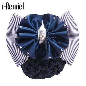Clips i-Remiel Cinta floral de encaje hairgrips de la flor del arco del satén del Bowknot ganchillo del tocado del pelo Accesorios del pelo para las mujeres Mujeres