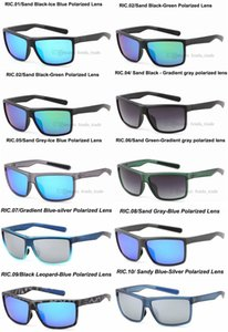 Promoción diseñadora silicona tr90 marco arena deportes negro marco polarizado ciclismo UV400 hombres mujeres bicicleta gafas deportivas gafas de sol 5pcs